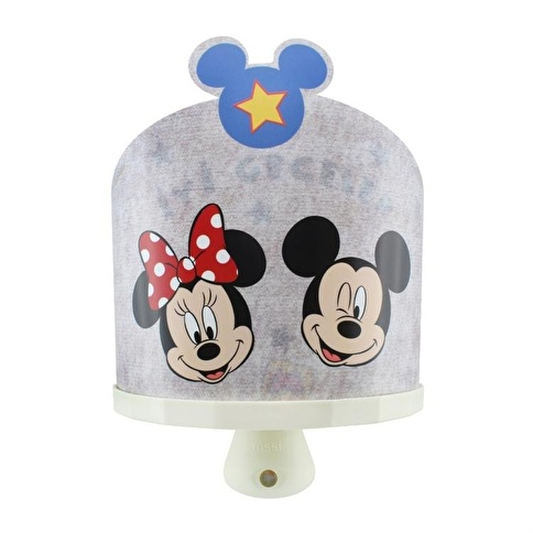Disney Minnie & Mickey Mouse 3D Ledli Sihirli Gece Lambası Renkli